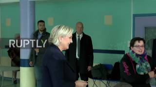 France  Le Pen casts vote in second round of presidential elections