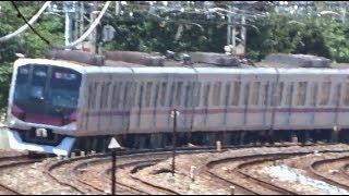 西新井駅に到着~出発する東武伊勢崎線下り急行の東京メトロ08系