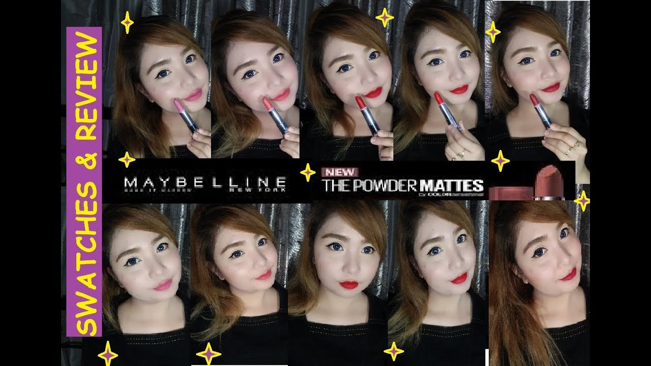 Maybelline The Powder Mattes Swatches Review Best Seller Softlens Eos Marie Cantik Natural