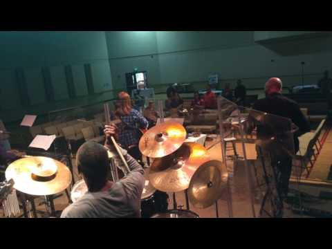 Teddy drumming