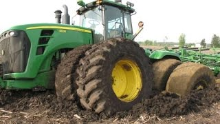 Tractor stuck in mud compilation 2016, NEW