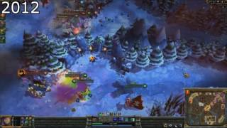 The Evolution of LoL Gameplay 2009-2016