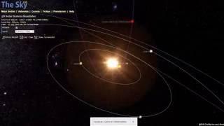 Orbit of Comet C/2016 M1 using TheSkyLive Solar System Simulator