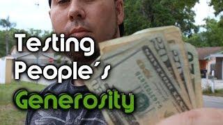 Repeat youtube video Testing People's Generosity - Honesty Money Experiment