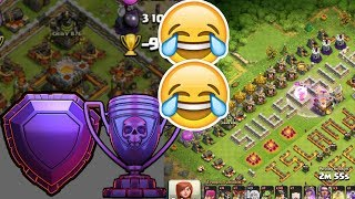 Clash of Clans - How did He get here?! Legends League?!(WORST ATTACK) // Troll Base at 6000 Cups.