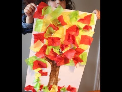 tissue paper crafts ideas diy how to make a tissue paper fall tree craft fall 5588