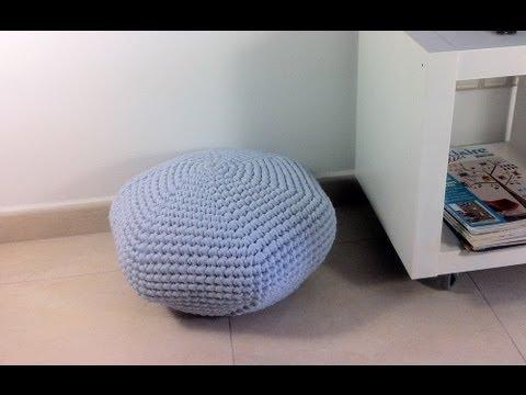 DIY Tutorial How To Crochet A Tshirt Yarn Pouf YouTube Fascinating T Shirt Yarn Pouf