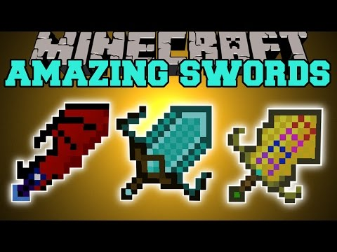 Minecraft: AMAZING SWORDS (SWORD ABILITIES, UPGRADES, DEADLY MOBS, & MORE!) Mod Showcase