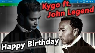 Kygo ft. John Legend - Happy Birthday [Piano Tutorial] Synthesia