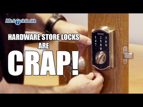 Hardware Store Locks are CRAP!   Mr. Locksmith Video