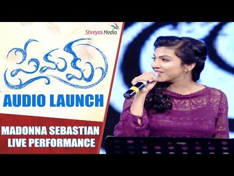 Madonna Sebastian Live Performance | Premam Audio Launch | Naga Chaitanya, Shruthi | Shreyas Media