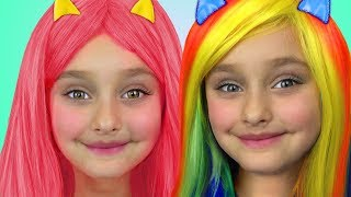 Sasha pretend play with dress up and make up toys thumbnail