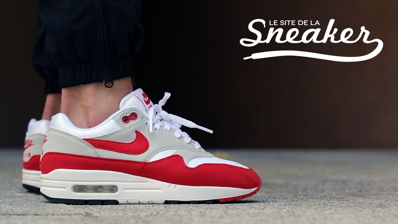 Nike Air Max 1 Anniversary Red 2017 - Unboxing & On-feet Look