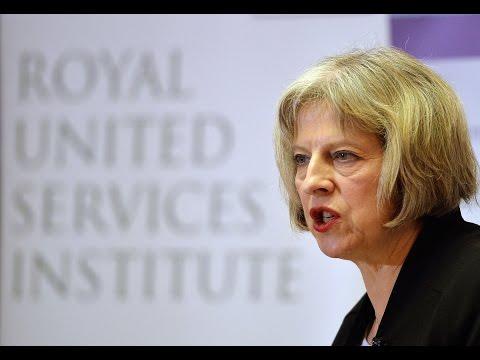Home Secretary Theresa May on the Terrorist Threat