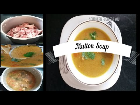 Mutton soup| Mutton Bone soup | How to make Mutton soup in Home