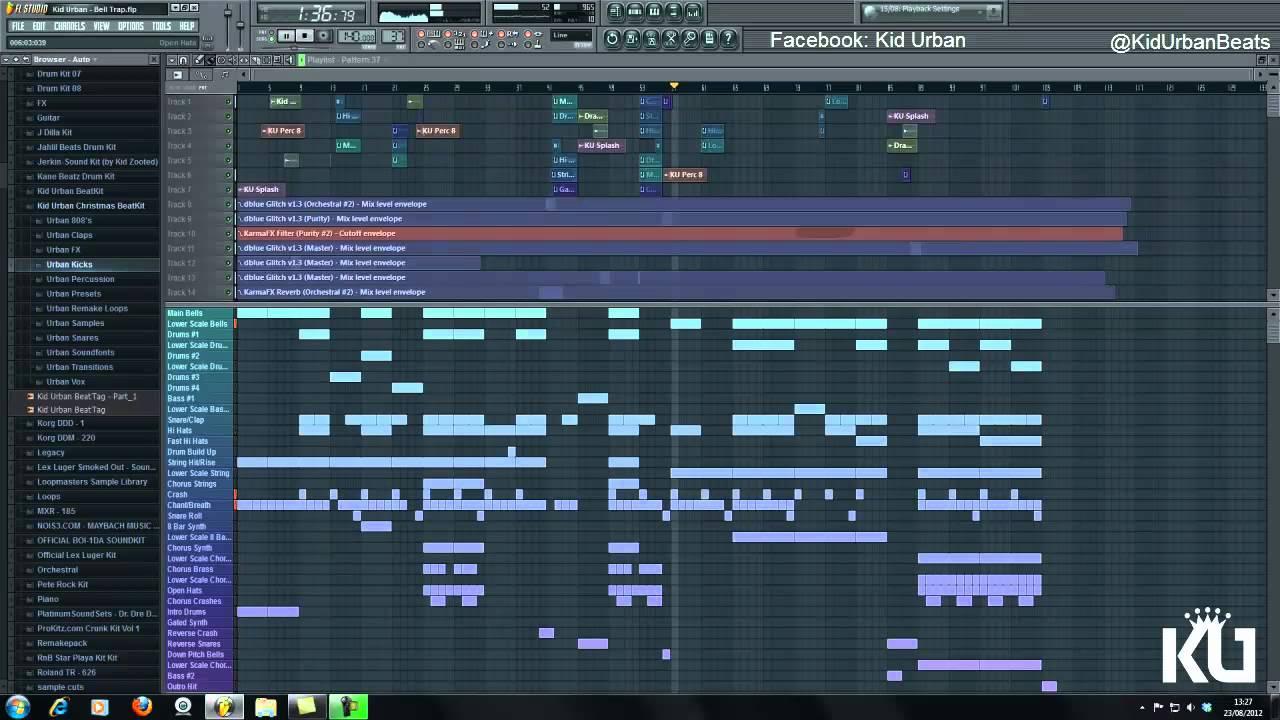 FL Studio 10 - Bell/Trap/Kid Urban Beat 720p [HD]