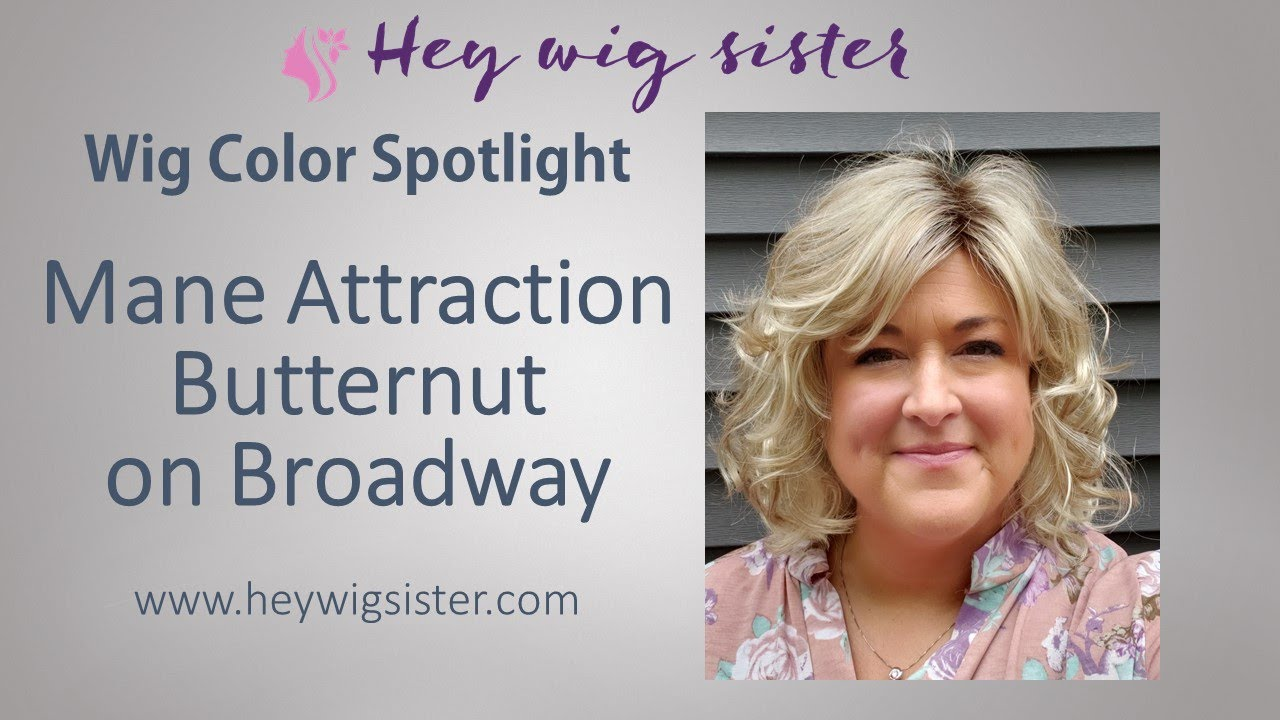 COLOR SPOTLIGHT- Mane Attraction Butternut on Broadway- ROOTED BLONDE WIG!