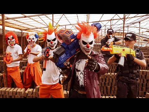 Loka Nerf Guns : Squad Delta Nerf Guns Fight Dr.Crazy Crime Group Mask Ep 10