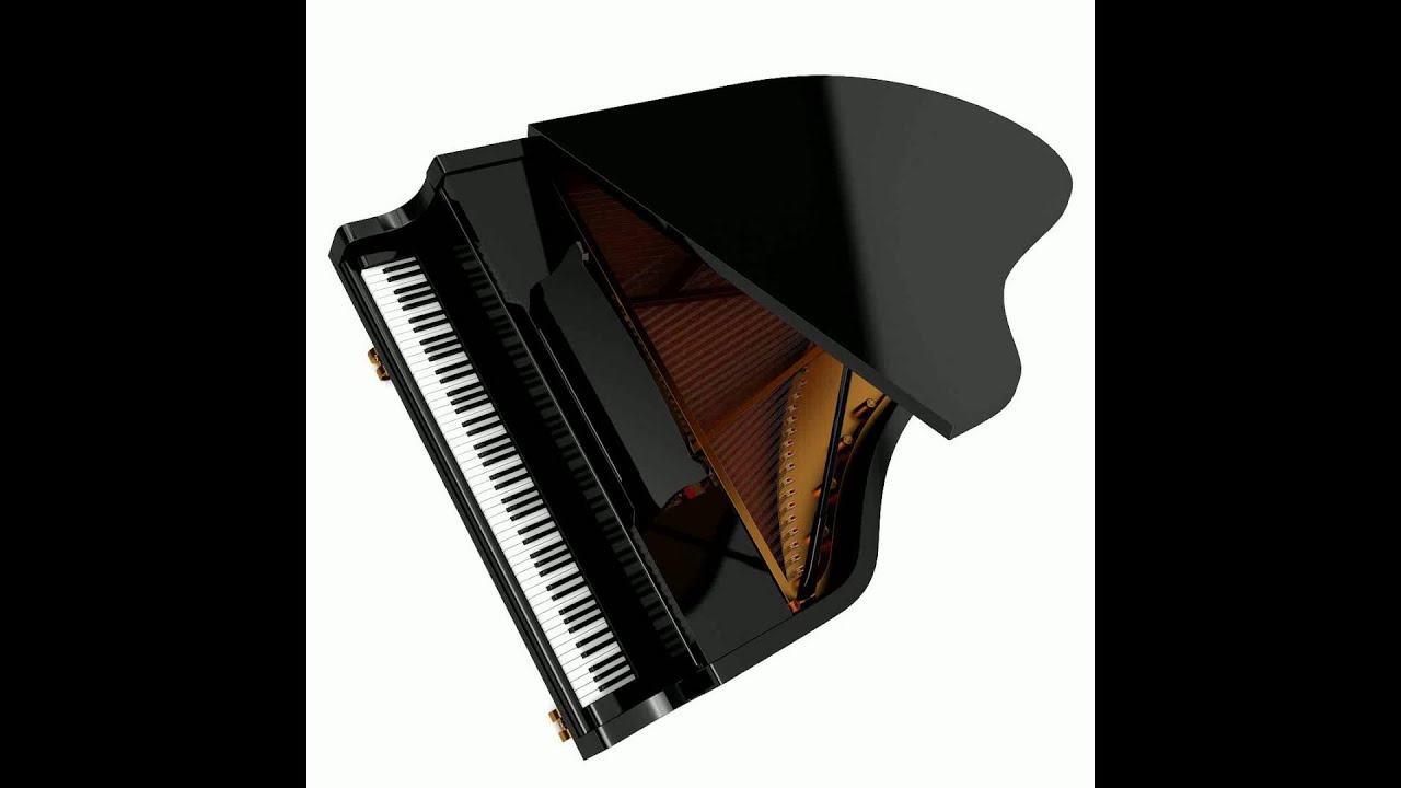 Grand piano 3d model from youtube for 3d model viewer