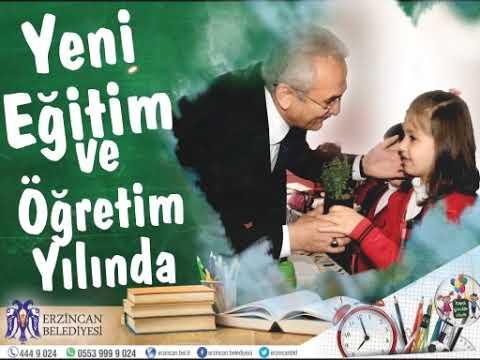 Erzincan Belediyesi Eğitim Öğretim yılı mesajı