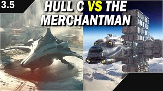 Star Citizen: 2 Heavy Freighters Duke it out.