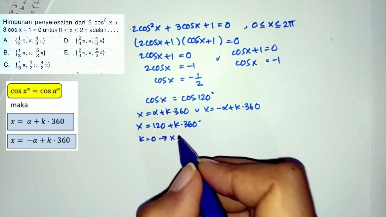 Selanjutnya saya akan membagikan contoh soal terkait rumus trigonometri kelas 10 tersebut. Soal Trigonometri Kelas X Tentang Prioditas Trigonometri Beserta Jawabannya