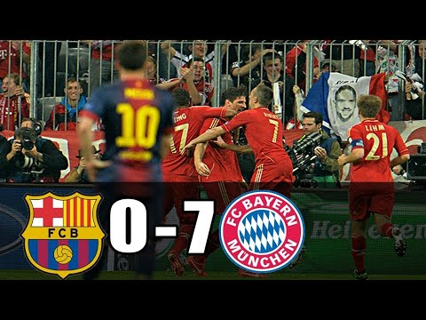 Bayern Munich Vs Barcelona 7 0 Agg Semifinal 2012 2013 English Commentary Full Review Youtube