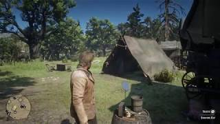 Red Dead Redemption 2 - Camp: Antagonize Abigail & Bill, Eat Stew, Shave, Donate Provisions (2018)