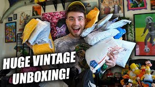 ONLINE VINTAGE STEALS! HUGE UNBOXING!