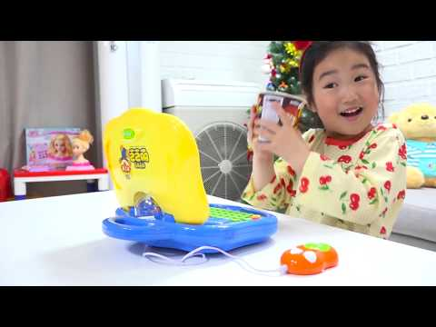 보람이의 뽀로로 컴퓨터 장난감 놀이 Boram pretend play with Pororo toys