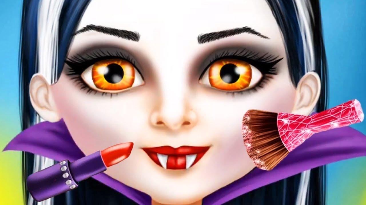 Dulce Bebé Niña Halloween Spooky Cambio De Imagen Maquillaje Juegos De Vestir Para Chicas