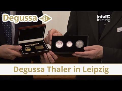"""Degussa Thaler """"1000 Jahre Leipzig"""" feierlich übergeben"""