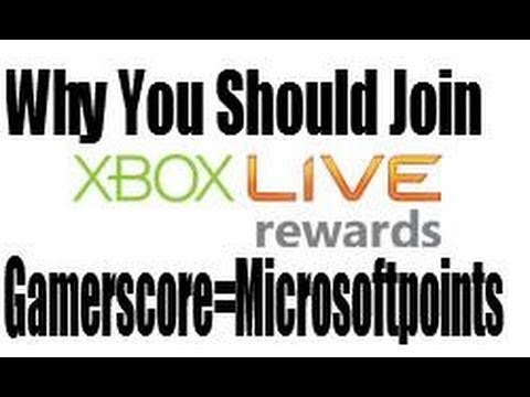 Join Xbox Live Rewards & Get Microsoft Points with Gamerscore (OLD)
