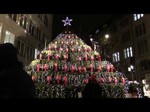 The Singing Christmas Tree in Zurich 2017