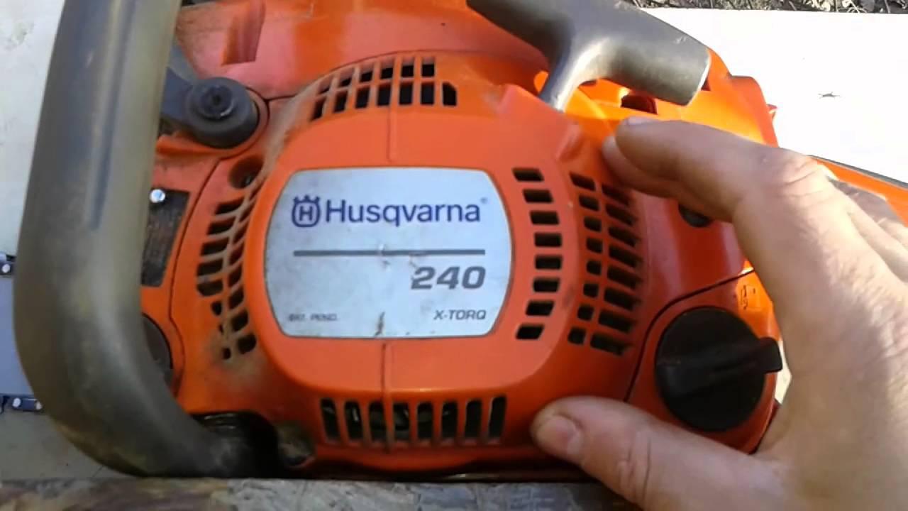 Разборка бензопилы хускварна 236 своими руками видео