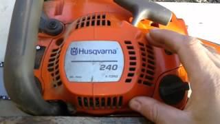 Обзор бензопилы Husqvarna 240