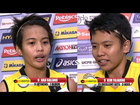 MATCH MVP: Ara Galang and Kim Fajardo | PSL All-Filipino Conference 2017