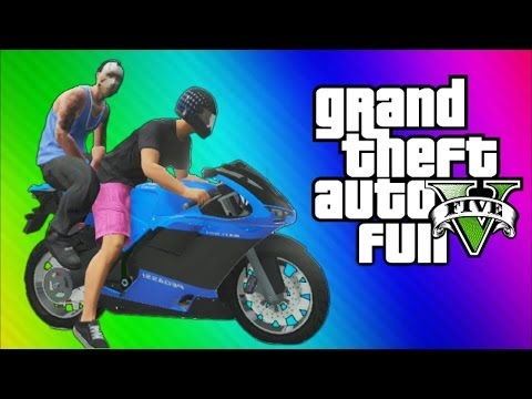 Thumbnail: GTA 5 Online Funny Challenge - Backwards Driving w/ Motorcycles & Jet Planes (GTA 5 Funny Moments)
