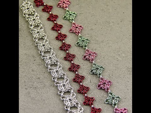 Live Chain Maille Demonstration - Byzantine Diamond Weave