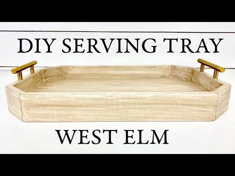 DIY Serving Tray Deco Handle West Elm