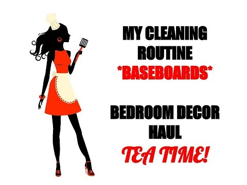 cleaning-routine-*baseboards*-~homegoods-master-bedroom-decor-haul~☕️tea-time☕️