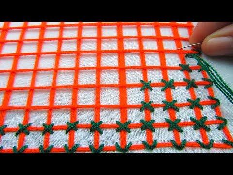 Hand Embroidery,Bangladeshi Nakshi Katha Drawing and stitching Tutorial,Nakshi Kantha