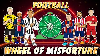 😲Football Wheel of Misfortune!😲 Feat Ronaldo Messi Neymar Haaland Lewandowski +more (Frontmen 2.7)