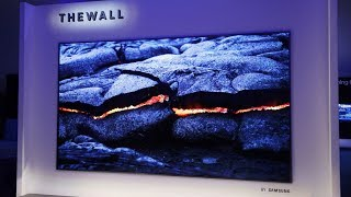 "Samsung Shows Off ""The Wall"": MicroLED Explained (CES 2018)"