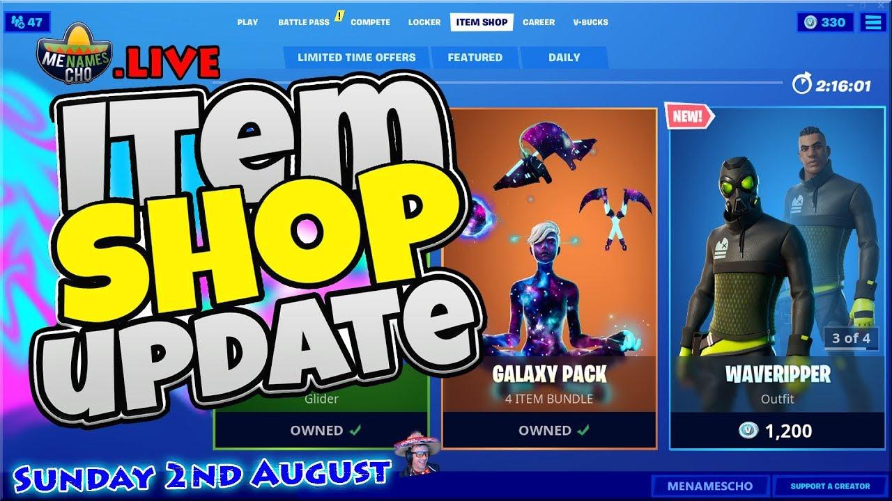 ?Fortnite Item Shop Update ? Countdown ⚡ LIVE - 2nd August 2020 (Fortnite Battle Royale)