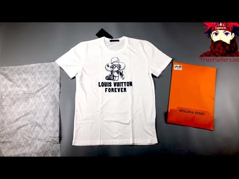 cbbded56937f Louis Vuitton t-shirt from China seller review - YouTube