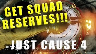 Just Cause 4 how to get squad reserves