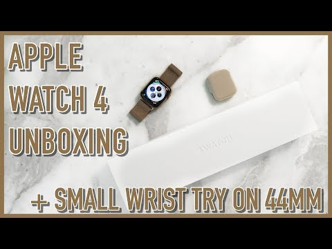apple-watch-series-4-unboxing-|-44mm-gold-fit-on-a-small-wrist
