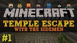 Minecraft Temple Escape #1 with The Sidemen (Minecraft Trolling)