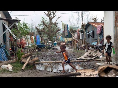 Cyclone Pam: Vanuatu's emotional president says his country must 'start again'